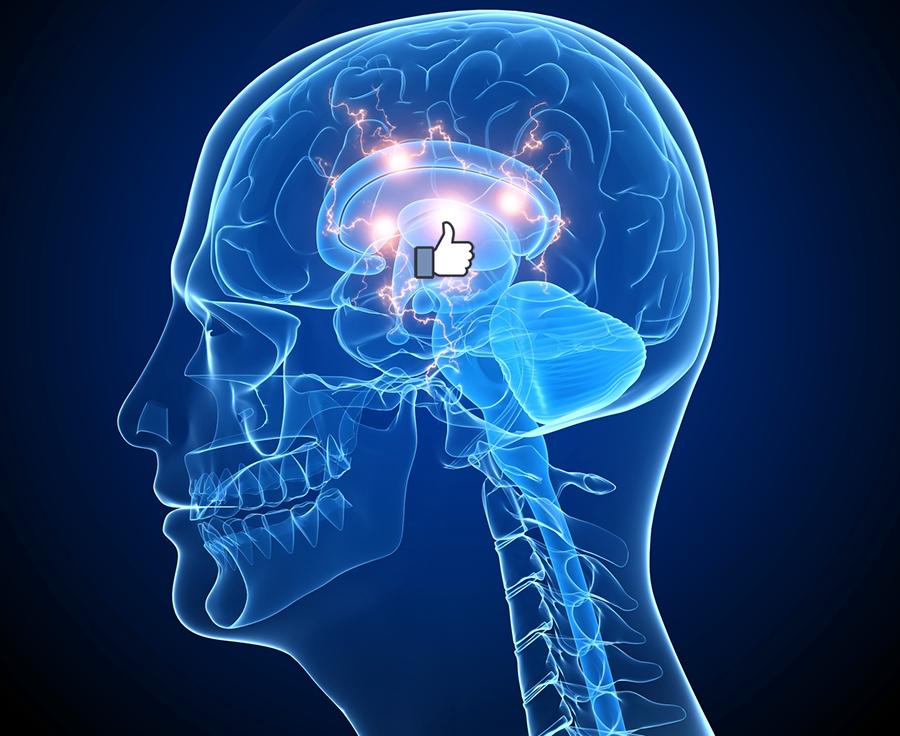 Har du fått en Facebook tumme på hjärnan? - Crestock.com