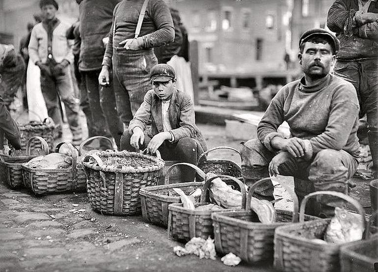 Boston street market, 1909