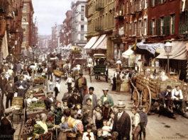 Mulberry Street, New York, 1900 - Foto: Detroit Photographer Co