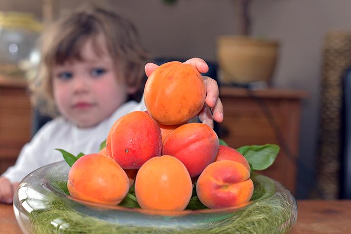 Barn med aprikoser - Foto: AdobeStock.com