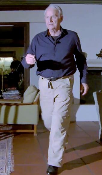 Carl-Henrik Jelstrup demonstrerar glidewalking - Foto Arnt-Olav Enger, TV Helse Norge