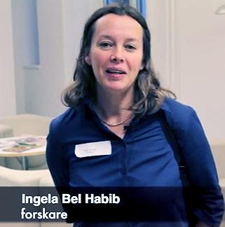 Ingela Bel-Habib forskar på psykisk ohälsa. Bildruta från video från kanalen Lönsam mångkultur på YouTube.