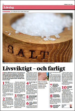 Artikel om salt i HD den 21 aug 2018 - Bild: skärmdump
