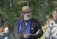 Geir Flatabø, Paul Stamets och Anne Elisabeth Scheen. Foto: Arnt-Olav Enger, TV Helse