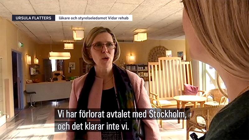 Ursula Flatters vill knappast ha en monovårdkultur - Foto: skärmdump från SVT.se
