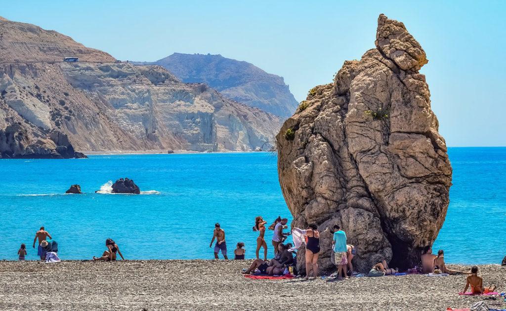 Afrodites klippa på Cypern. Foto: Dimitris Vetsikas. Licens: Pixabay.com (free use)