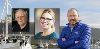 Medicinsk historiker Christer Nilsson (foto: Johan Arvidsson), Annica Sohlström (Pressfoto: Livsmedelsverket.se) och Sigmund Bjørgo (pressfoto: Norges sjömansråd).