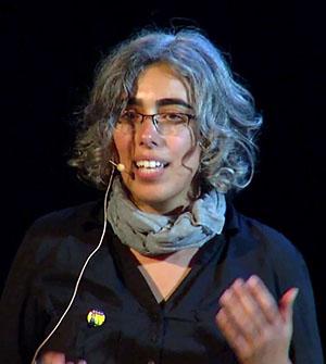 Dr Eti Ben Simon edpert på sömnbrist, 2018. Foto: UC Berkley Events