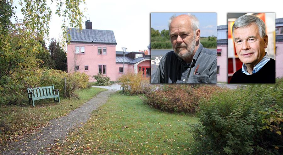 Vidarkliniken i Hjärna. Foto: Ljungqvist. I bild: Ingemar Ljungqvist och Kjell Asplund. Pressfoto: SMER.se
