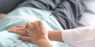 Tarmcancer, sjukhus, patienter. Licens: Adobestock